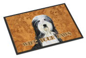 Bearded Collie Wipe your Paws Indoor or Outdoor Mat 18x27 SS4889MAT