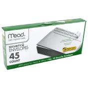 Mead #10 Envelopes, Security, Press-it Seal-it, 10cm - 0.3cm X 23cm - 1.3cm , White, 45 Per Box