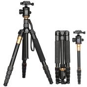 Q666 Portable Camera Magnesium Aluminium Professional Camera Tripod Monopod with Ball Head Pocke for Nikon D3400, D3300,D3200,D3100,D5600,D5500,D5300,D5200,D5100, D7100,D7000, D810 D810A D800, D700,D610 D600, D300,D90,D80,D60,D50,D40,D40x.