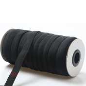 "Top Hunter Black 40-Yards Length 1.2CM(approx. 1/2"") Width Braided Elastic Cord/Elastic Band/Elastic Rope/Bungee/Black Heavy Stretch Knit Elastic Spool"