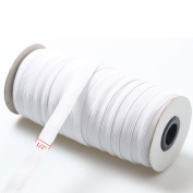 """Top Hunter White 40-Yards Length 1.2CM(approx. 1/2"""") Width Braided Elastic Cord/Elastic Band/Elastic Rope/Bungee/White Heavy Stretch Knit Elastic Spool"""