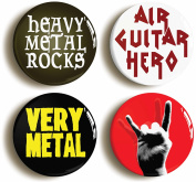 Heavy Metal Rock Funny Button Pin Set