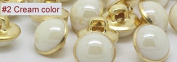 Cream 40pcs/lot Candy Colour Metal Imitation Pearl Shank Sewing Buttons for Shirt Garment