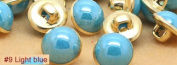 Light blue 40pcs/lot Candy Colour Metal Imitation Pearl Shank Sewing Buttons for Shirt Garment