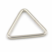 "10 Pcs Dee Rings For Webbing Ribbons Straps Clips Buckles Metal Triangle 1.5"" 38mm Nickle"