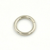 "30 Pcs O Ring For Ribbon Dee Webbing Belt Buckles Bag Non Welded Metal Nickle 5/8"" 16mm"
