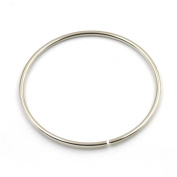 "2 Pcs O Ring For Ribbon Dee Webbing Belt Buckles Bag Non Welded Metal Nickle 3"" 75mm"