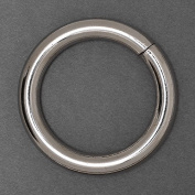 2.5cm - 1.9cm Metal Silver O-Ring Belt Buckle, Fashion Jewellery by 4-pcs, SP-2458