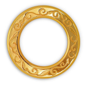 5.1cm Metal Gold O-Ring Belt Buckle, Fashion Jewellery by 4-pcs, SP-2457