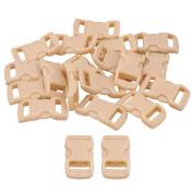 20pcs Luggage Bag Belt Strap Webbing Plastic Contoured Quick Side Release Buckles 1cm For Paracord Bracelet