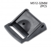 Multi-size Cam Buckle Webbing Buckle Plastic Adjustable Buckles Toggle Clip Pack of 2