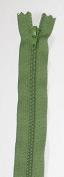 YKK Nylon Closed End Dress Zip 40cm Olive Green - per zip
