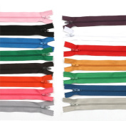 50Pcs 18cm Nylon Invisible Zippers for Tailor Sewer Sewing Craft Supplies, Colour Random