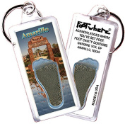 "Amarillo ""FootWhere"" Souvenir Keychain. Made in USA"