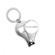 Quote I Major In Law Metal Key Chain Ring Multi-function Nail Clippers Bottle Opener Car Keychain Best Charm Gift