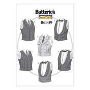 Butterick Mens Sewing Pattern 6339 Single & Double Breasted Vests