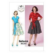 Butterick Ladies Sewing Pattern 6285 Vintage Style Wrap Top & Pleated Skirt