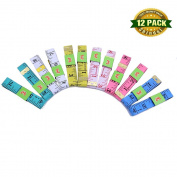 Shindel Soft Measuring Tape,Tailor Sewing Flexible Ruler,60 inches/150cm,multicolour,12 PCS