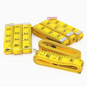 M-W 8PCS Tape Measure 300cm/120 Inch Double-scale Soft Tape Measuring Body Weight Loss Medical Body Measurement Sewing Tailor Cloth Ruler Dressmaker Flexible Ruler Tape Measure