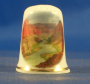 Porcelain China Collectable Thimble - Grand Canyon Arizona with Free Gift Box