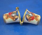 Porcelain China Thimble Needle Case -- Steiff Teddy Bears