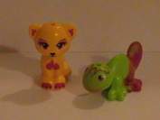 Lego Friends Elves Cat and Cameleon Animal Minifigures From 41185
