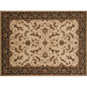 Loloi Stanley 2.1m x 3m Power Loomed Rug in Beige and Charcoal