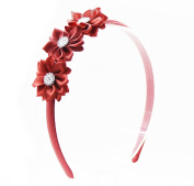 PrettyBoutique Triple Satin Flowers Girls Alice Headband Hair Band