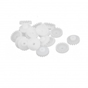 20 Pcs 20 Teeths 2mm Hole Diameter Plastic Gear Wheel for RC Toy Car