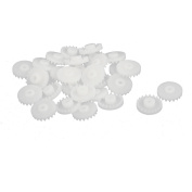 30PCS 20 Teeth 2mm Hole Diameter Plastic Front Gear Wheel for RC Toy Car