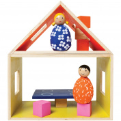 Manhattan Toy MiO Eating + 2 People Wooden Building Set