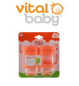 Baby Food Pots Press 'n' Pop Mini Freezer Weaning Cubes Storage Vital 8 Pack Orange