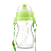 Children Gourd Type Portable Drinking Cup Leakproof Straw Training Cup 10 Ounces,B-300ml