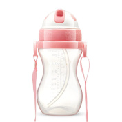 Children Gourd Type Portable Drinking Cup Leakproof Straw Training Cup 10 Ounces,A-300ml