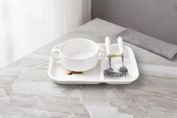 HJXJXJX Children's Tableware Table Adult Adult Breakfast Plate Ceramic Dish Three Separate Dishes Dish