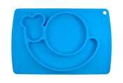 LONGDA - Silicone Placemat 38x26x3cm, One-Piece Plate for Babies, Toddlers, and Kids, BPA-Free FDA Approved Dinnerware, Suctions to Table, Dishwasher & Microwave Safe