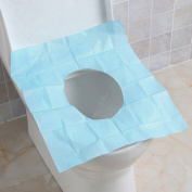Jiyaru 10pcs Disposable Paper Toilet Seat Covers Travel Camping Waterproof Seat Protector