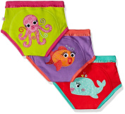 Zoocchini Briefs for Girls Ocean 3-4 years