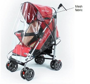 Vi.yo Stroller Rain Cover Pushchair Stroller Pram Buggy Transparent Rainproof Cover Rain Shade