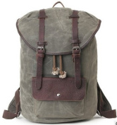Meoaeo The New Waterproof Waxed Canvas With Leather Shoulder Bag