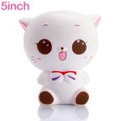 WATINC 1 pcs Jumbo Kawaii White cat Squishy Cream Scented Slow Rising Squishy Charms, Stress Relief Toy Toy hop prop Large