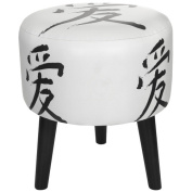 Oriental Furniture Love Calligraphy Stool