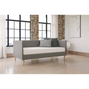 DHP Franklin Mid Century Daybed, Twin, Grey Linen