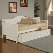 Bowery Hill Wood Daybed in White Finish With Trundle