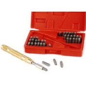 39 Piece Steel Metal Automatic Hand Letter and Number ID Stamping Punch Tool Kit Set