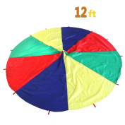 Kids Parachute Play Parachute-3.7m with 12 Handles for 8 12 kids tent play