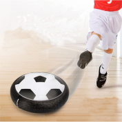 Hot Toy Pneumatic Suspended Football, Air Power Soccer with Foam LED Lights for All Ages, Hover Disc Gliding Training Ball Disc Toy