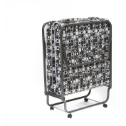Torino Folding Bed Rollaway Twin Guest, Black and White