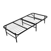 Homdox Twin Size Base Bed Frame Metal Folding Platform Bed Mattress Foundation Black