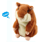 Yoego Cute Mimicry Pet Talking Hamster Repeats What You Say Plush Animal Toy Electronic Hamster Mouse for Boy and Girl Gift,7.6cm x 14cm
